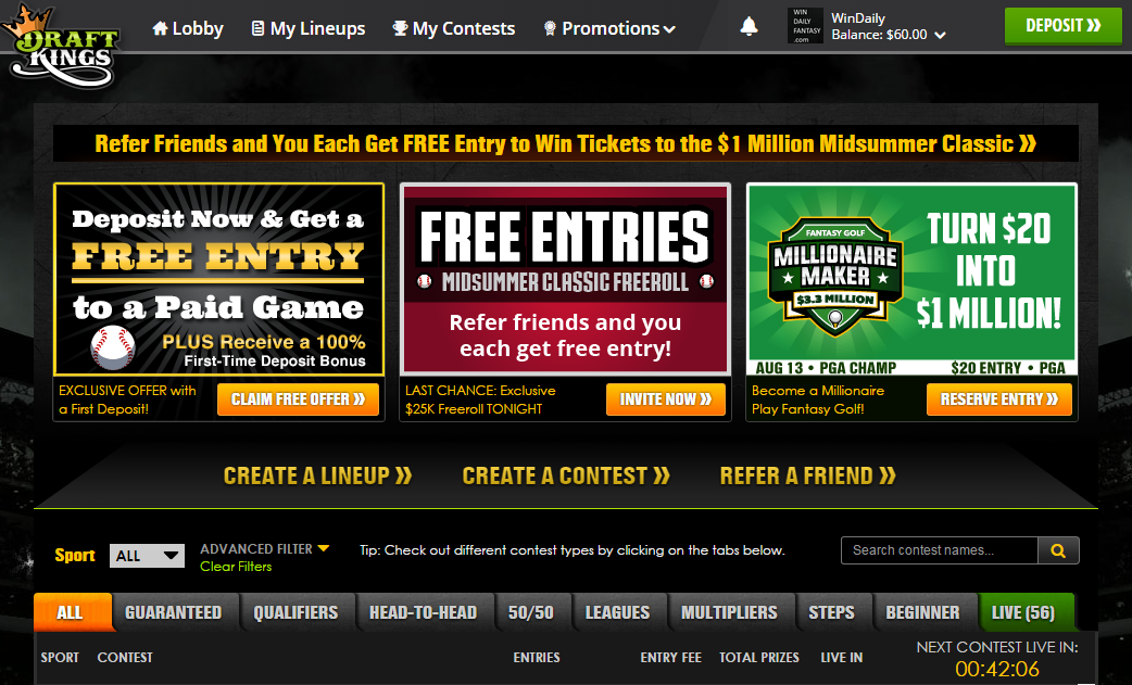 DraftKings Screenshot