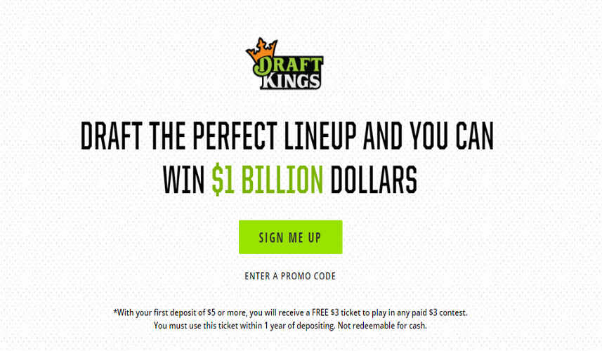 DraftKings $1 Billion Lineup