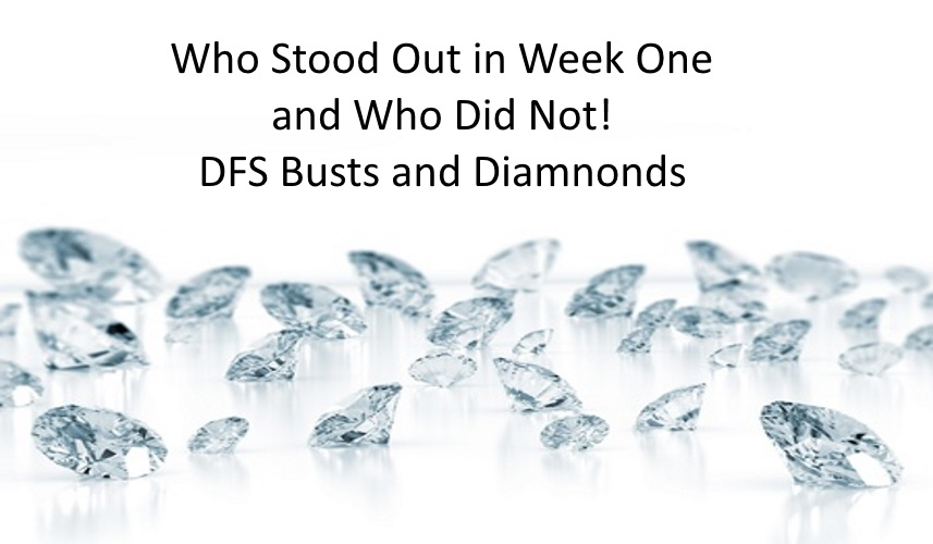 Week One Diamonds and Busts 2016